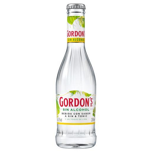 GORDONS ginebra sin alcohol con un toque de lima limón botella 25 cl