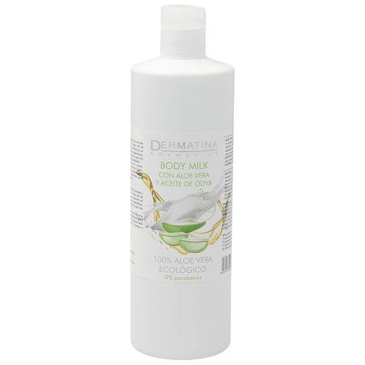 DERMATINA body milk con aloe vera y aceite de oliva bote 500 ml