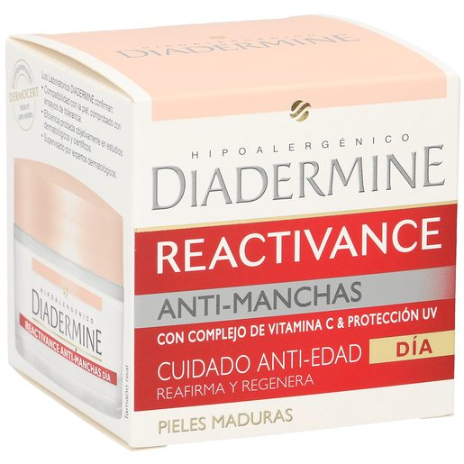 DIADERMINE Reactivance crema de día antimanchas cuidado antiedad tarro 50 ml