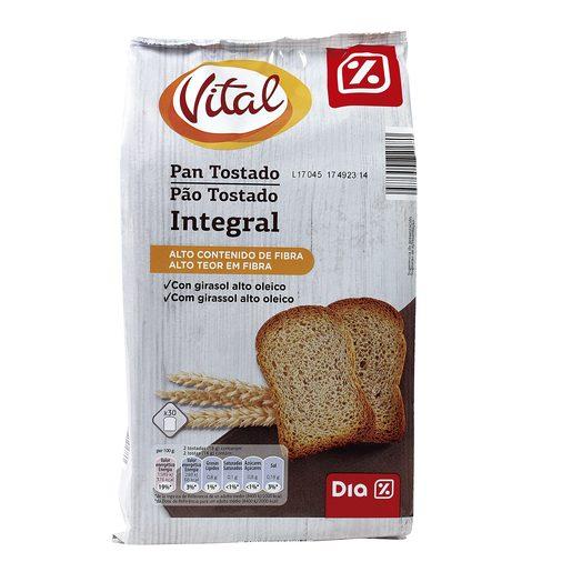 DIA VITAL pan tostado integral paquete 270 gr