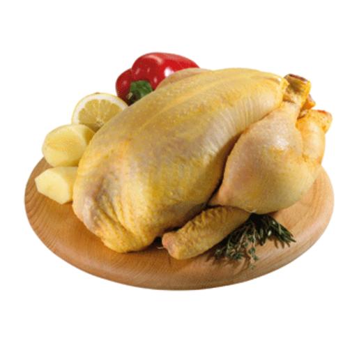 Pollo amarillo limpio unidad (peso aprox. 2 Kg)