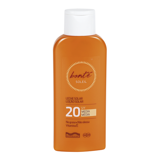 BONTE leche solar protección media 20 spf bote 250 ml
