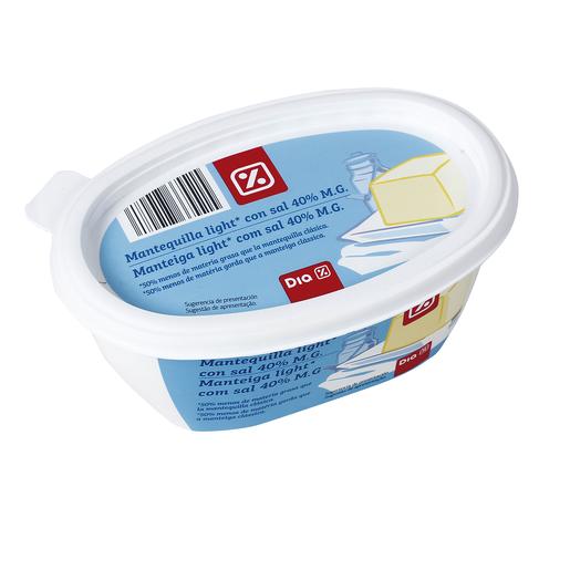 DIA mantequilla light con sal barqueta 250 gr