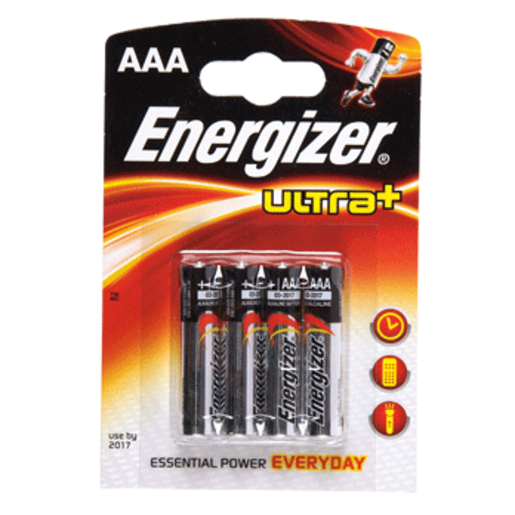 ENERGIZER pila alcalina AAA (LR03) blister 4 unidades