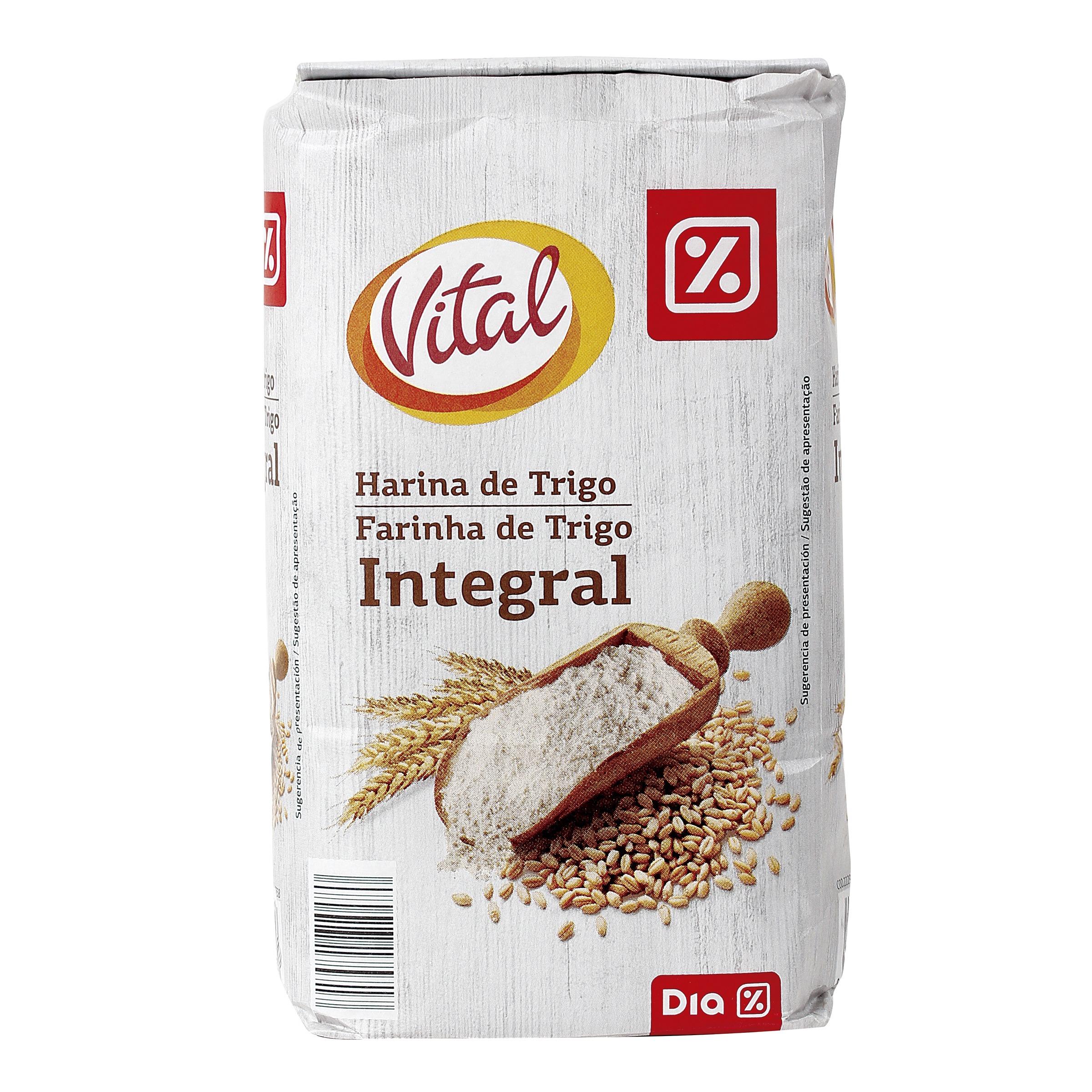 Dia vital harina de trigo integral paquete 1 kg otros - Harina integral de trigo ...