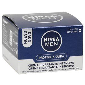 NIVEA Men crema hidratante intensiva protege&cuida tarro 50 ml