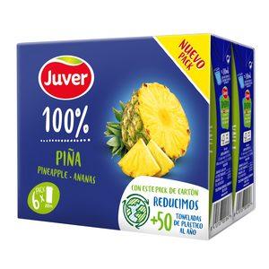 JUVER zumo de piña pack 6 unidades 200 ml