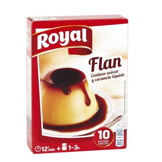 ROYAL preparado para flan contiene caramelo líquido caja 233 gr