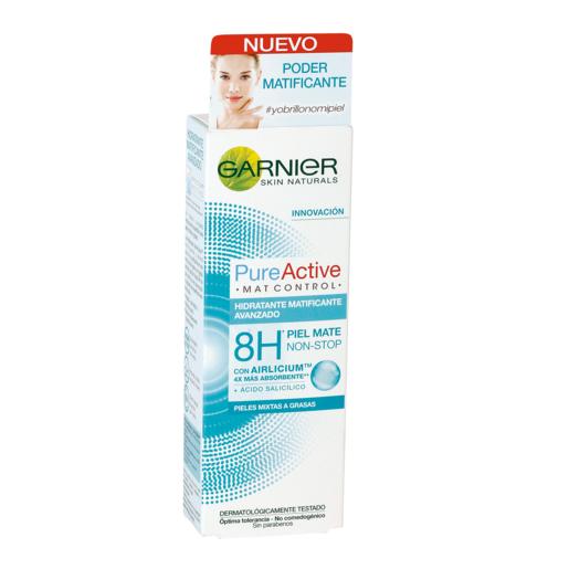 GARNIER Pure active crema hidratante matificante avanzado tubo 50 ml
