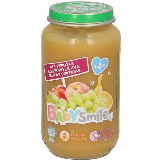 BABYSMILE multifrutas con zumo de uva tarrito 250 gr