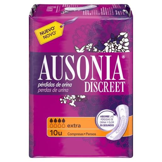 AUSONIA Discreet compresas de incontinencia extra paquete 10 uds