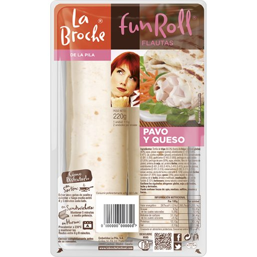 LA BROCHE Fun roll de pavo y queso bandeja 220 gr