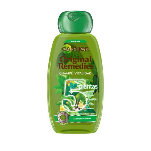 ORIGINAL REMEDIES champú 5 plantas frasco 250 ml