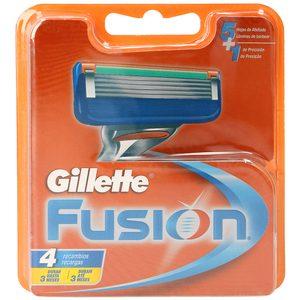 GILLETTE Fusion maquinilla de afeitar recambio blíster 4 uds