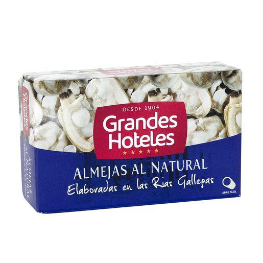 GRANDES HOTELES almejas al natural lata 63 gr
