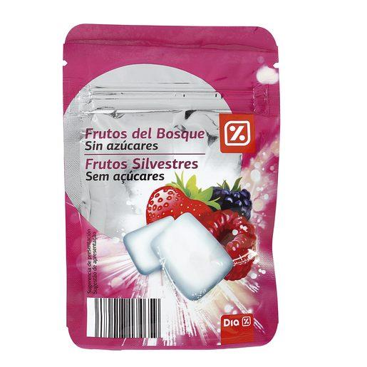 DIA chicle sabor frutos del bosque sin azúcares bolsa 42 gr
