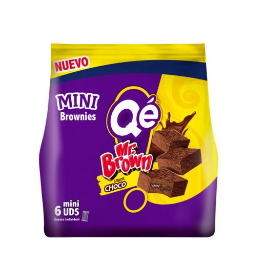 QÉ mini pastelitos mr. brown sabor choco paquete 6 uds 150 gr