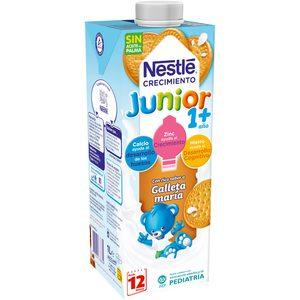 NESTLE Junior leche crecimiento galletas maría +12 meses envase 1 lt