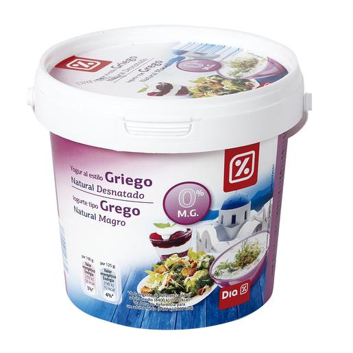 DIA yogur griego natural 0% M.G. 1 Kg