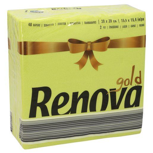 RENOVA servilletas verdes 2 capas 39x39 cm paquete 40 uds