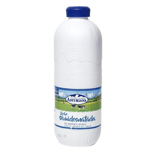 ASTURIANA leche semidesnatada botella 2.2 lt