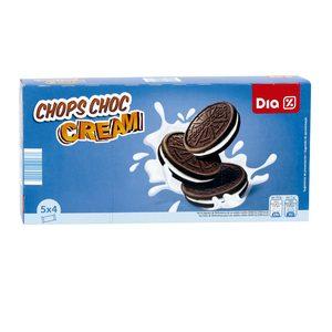 DIA galletas de chocolate rellenas de crema caja 220 gr