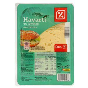 DIA queso havarti lonchas sobre 200 gr
