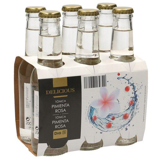 DIA DELICIOUS tónica pimienta rosa pack 6 botellas 20 cl
