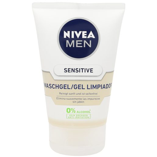 NIVEA Men gel limpiador sensitive tubo 100 ml