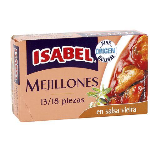 ISABEL mejillones en salsa vieira 13/18 piezas lata 69 grs