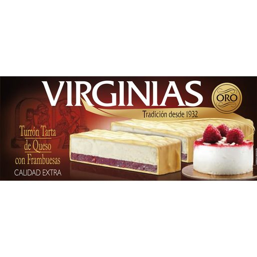 VIRGINIAS turrón tarta de queso con frambuesa estuche 300 gr