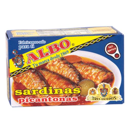 ALBO sardinas picantonas lata 85 grs