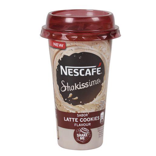 NESCAFE Shakissimo sabor latte cokkies vaso 190 ml