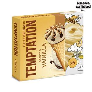 DIA TEMPTATION helado cono sabor vainilla caja 6 uds 408 gr