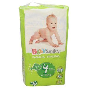 BABYSMILE pañales 8-15 kgs talla 4 paquete 64 uds