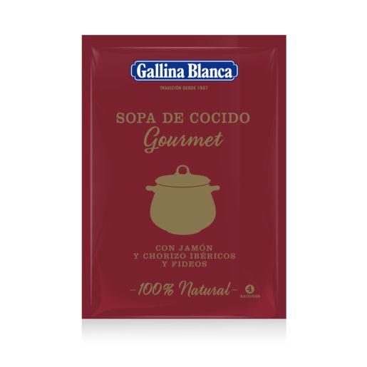 GALLINA BLANCA sopa de cocido gourmet con jamón y chorizo sobre 97 gr