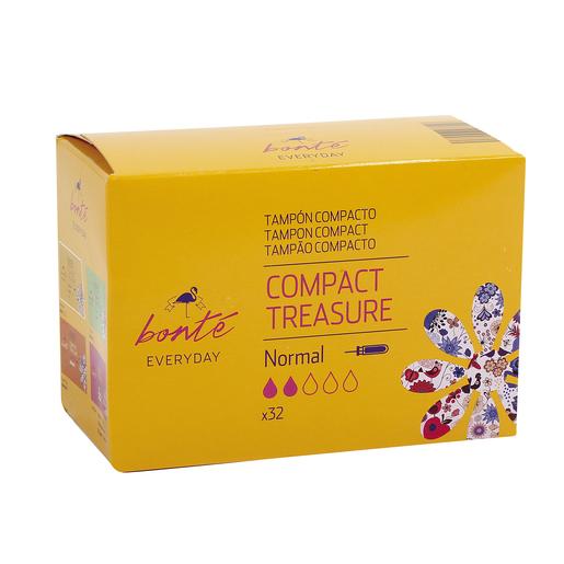 BONTE tampones compactos con aplicador normal paquete 32 ud