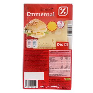 DIA queso emmental en lonchas sobre 120 gr