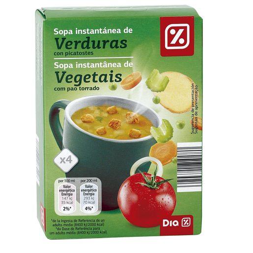 DIA sopa instantánea de verduras con picatostes caja 63,6 gr