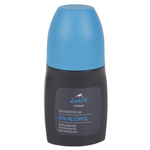 BONTE desodorante men sensitive sin alcohol roll on 50 ml