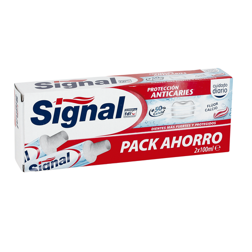 SIGNAL pasta dentífrica anticaries tubo 2 x 100 ml