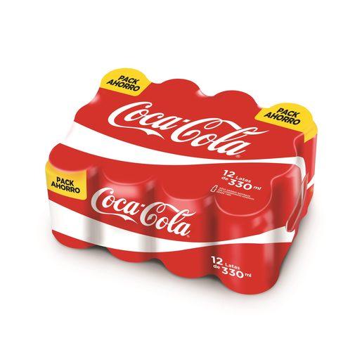 COCA COLA clásica pack 12 latas 33 cl