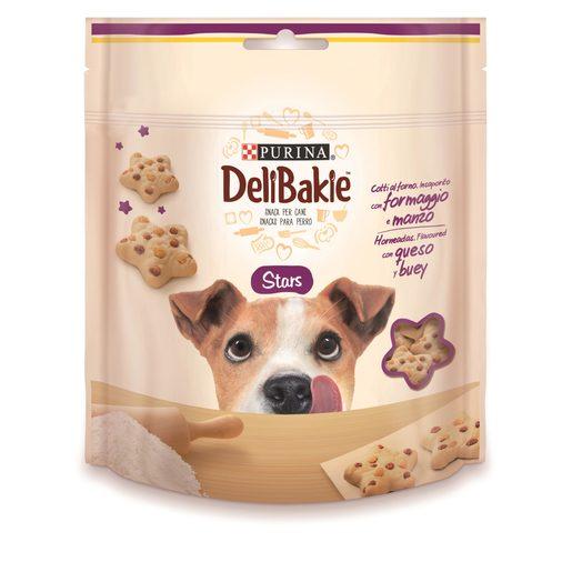PURINA Delibakie snack para perros horneadas con queso y buey bolsa 100 gr