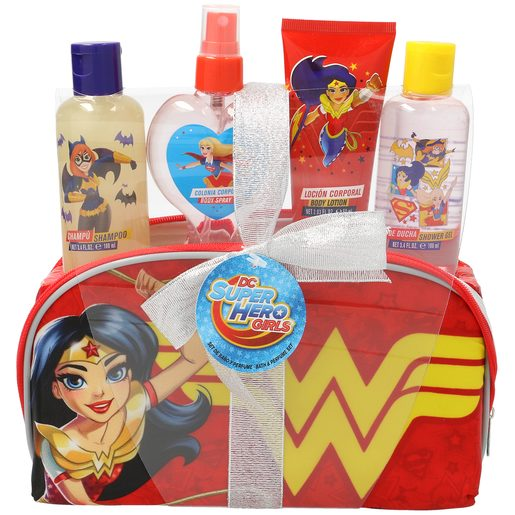 SUPER HERO GIRLS pack champú + colonia + loción corporal + gel de ducha