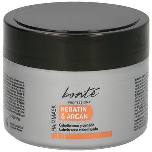 BONTE mascarilla capilar keratin&argan cabello seco y dañado tarro 300 ml