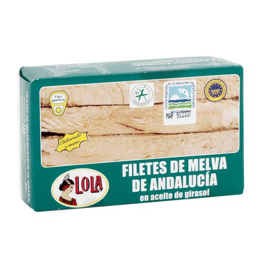 LOLA filetes de melva de andalucia en aceite de girasol lata 80 gr
