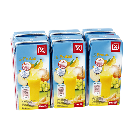 DIA néctar light 5 frutas pack 6 unidades 200 ml