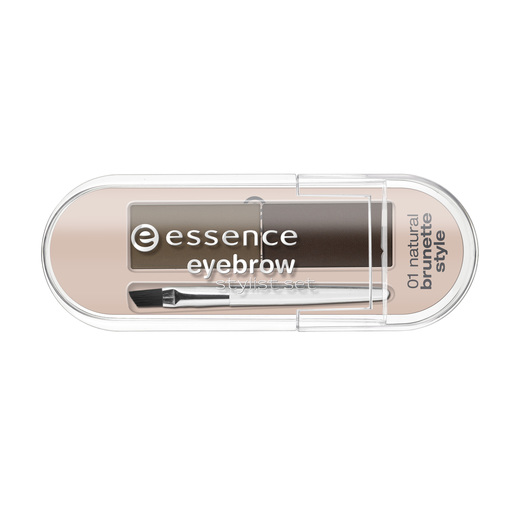 ESSENCE Eyebrow Set estilismo para cejas 01 Natural Brunette Style