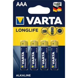 VARTA pila alcalina  AAA (LR3) blister 4 unidades
