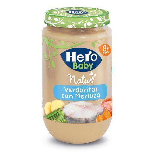 HERO Baby verduritas con merluza tarrito 235 gr